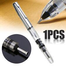 -US Wing Sung 601 Vacuum Pump Transparent Clear Fountain Pen Fine Nib Pen Supply