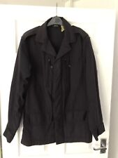 APC Paris Men's Black Jacket Overcoat Size 1 Small Military