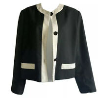 MISS SMITH Women UK 10 British Vintage Tailored Jacket Monochrome Blazer Smart