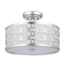 Safavieh Lighting Cedar Linked 15 in. 3-Light Silver Semi-Flush