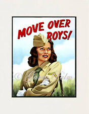 """Move over Boys - Army"" 11x14 Open Edition Print by Hawaii artist Garry Palm"