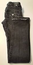 True Religion Womens Jeans Size 25 Distressed Billy Boot Cut Stretch Dark Wash