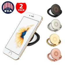 2-Pack Universal 360 Rotating Finger Ring Stand Holder For Cell Phone iPhone