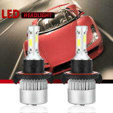 H13 9008 COB LED Headlight Conversion Kit 72W 8000LM HI-LO Beam Bulb 6000K White