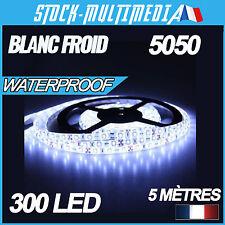 Kit ruban led 5 mètres smd5050 blanc froid 12v 300 led étanche IP65 bandeau led