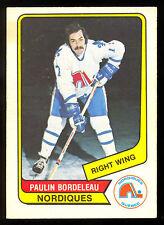 1976 77 OPC O PEE CHEE WHA #98 PAULIN BORDELEAU EX+ QUEBEC NORDIQUES HOCKEY CARD