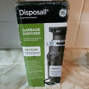 New GE 1/3hp Garbage Disposal GFC325N New Sealed Box. Continuous Feed. 👍🏼