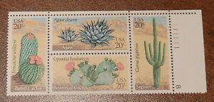 Scott # 1942-45 -  US Plate Block - Desert Plants - MNH OG