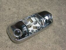 FORD VINTAGE LARGE CHROME METAL OVERHEAD DOME 3 BULB MAP LAMP LIGHT 13776AA