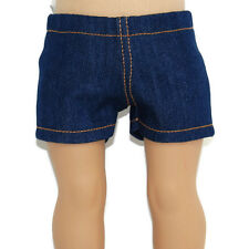 "BLUE STRETCH DENIM JEAN SHORTS - Doll Clothes - Fits 18"" American Girl Dolls"