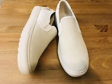 Coach G1688 white leather suede men's fashion slip on shoes Nwob size 10