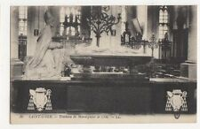 Saint Omer Tombeau Monseigneur de Croy Vintage LL Postcard France 275a