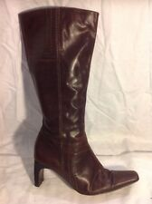 Principles Brown Knee High Leather Boots Size 40