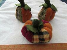 3 Decorative Stuffed Pumpkins