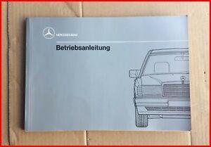 Original Mercedes Bedienungsanleitung Betriebsanleitung W201 190E 190D