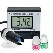 Digital pH Meter Tester Monitor Hydroponics Aquarium Pool Spa Pond 0.0~14 pH ATC