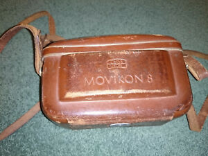 Zeiss Ikon MOVIKON 8 compact 8mm camera with leather case