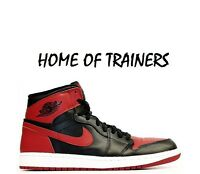 NIKE AIR JORDAN 1 RETRO HIGH OG BG (GS) BANNED BRED BLACK/VARSITY RED-WHITE