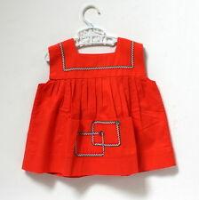 Robe orange à croquet vintage - 1 an