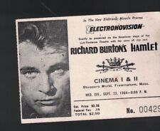Richard Burton's Hamlet September 23 1964 Electronovision Ticket