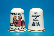 Winnie Pooh 90th Anniversary1924-2014 Promise Your'll Never Leave MeThimble B/78