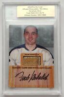 2004-05 ITG Ultimate Memorabilia 22/30 Frank Mahovlich Stick-Auto Card