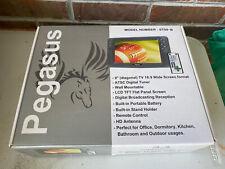 """Pegasus 9"""" LCD TV ATSC Digital Tuner Model ST09-B NIB w Remote"""