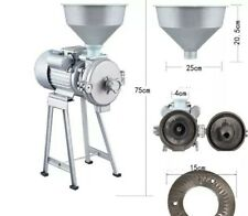 2200W Wet & Dry Electric Feed Flour Mill + 2 Spare Grinding Replacement Plates