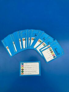 TRIVIAL PURSUIT Lot 50 Cartes Jeu Edition JUNIOR II 300 Questions Recharge FR !