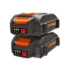 WORX WA3575 (2) 20V MaxLithium 2.0 Ah Battery for Trimmer, Hedge Trimmer, Blower