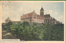 Westpreußen Karte  West Prussia Picturecard of Marienburg Farbfoto gelaufen 1914