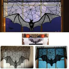 93x57cm Halloween Bat Lace Props Table Lamp Window Curtain Fireplace Cloth Decor