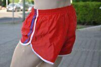 Sporthose SPRINTER Seitenschlitz Nylon sport Shorts 90s TRUE VINTAGE silky shiny
