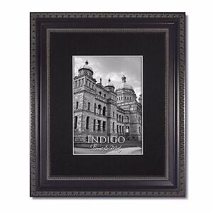 Set of 12 - 8x10 Ornate Black Picture Frame, Glass & Single Black Mat for 4x6