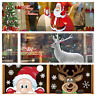 XXL Weihnachten Aufkleber Weihnachtsmann Rentier Fenster Sticker Deko 4 Designs