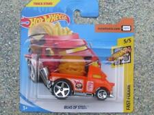 Hot Wheels 2018 #073/365 BUNS OF STEEL orange Fast Foodie New casting 2018