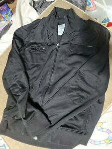 Express Men's Bomber Jacket Black Zipper