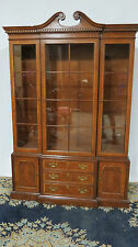 Henredon China Cabinet Breakfront Mahogany Dining Room Set