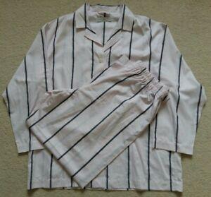 Daniel Hanson 100% Cotton Pink Stripe Pyjamas Size XL