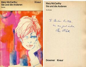 AUTHOR and political activist Mary McCarthy autograph, signed book