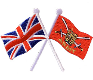 British Army Crest Union jack crossed flag Iron or sew on patch