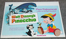 PINOCCHIO original WALT DISNEY movie poster