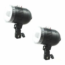 Kit 2x Flash Barebulb Lampe Esclave Studio Photo 2x80W Synch Filaire ou Slave