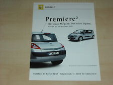 43456) Renault Megane + Espace JK Prospekt 2002