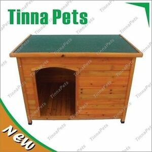 X-Large Log Cabin Timber Pet Dog Kennel House T016 FREE PICK UP 1170*820*860mm