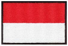 Flag of Monaco Monte Carlo Monegasque applique iron-on patch new S-901