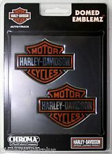 harley davidson bike 2 pack raised 3d emblem fuel tank gas gear sticker HD decal