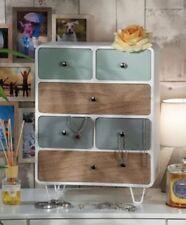 mobile legno mobiletto 6 cassetti color  portaoggetti cassettiera retro vintage