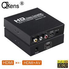 HDMI TO CVBS AV/HDMI AUTO SCALER NTSC/ PAL HD Video Converter for TV,VHS DVD VCR