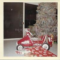 CHRISTMAS TREE Gifts 1960's 70's FOUND PHOTOGRAPH Color Snapshot VINTAGE 03 17 O